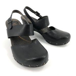 Dansko black clog heels 38